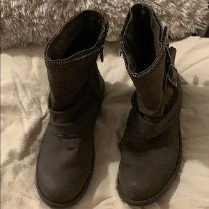 Gently worn brownish/gray ankle boots